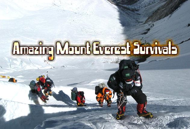 Amazing Mount Everest Survivals