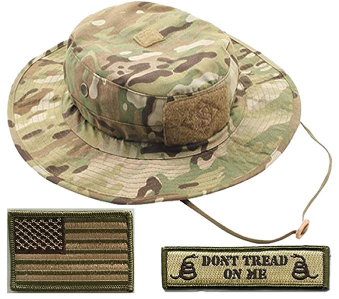 Gadsden and Culpeper Operator Boonie Hat Bundle   Patches