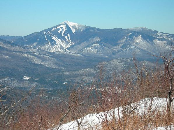 Whiteface mountain ski area, as seen from the Mr. Ride in Adirondacks